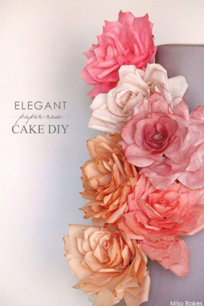 DIY: Paper Rose Cake