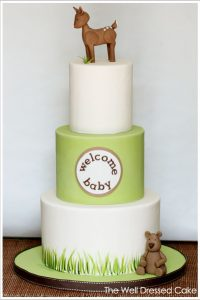 Woodland Forest Baby Shower Cake