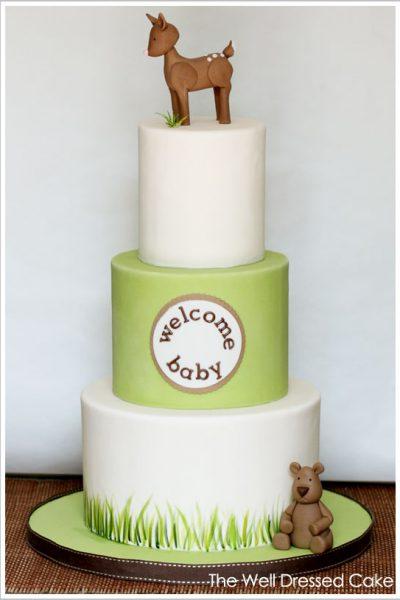 Woodland Forest Baby Shower Cake