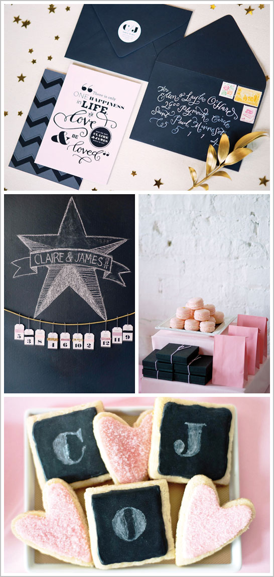 Graphic & Glitz Dessert Table