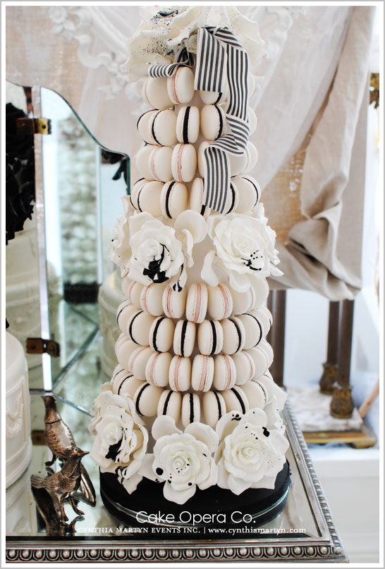 French Macaron Cake Tower by Cake Opera Co.