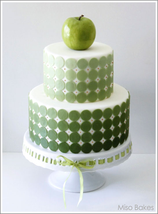 Green Ombre Cake by Miso Bakes