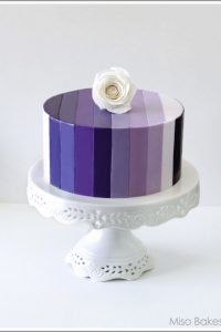Purple Ombre Cake by Miso Bakes