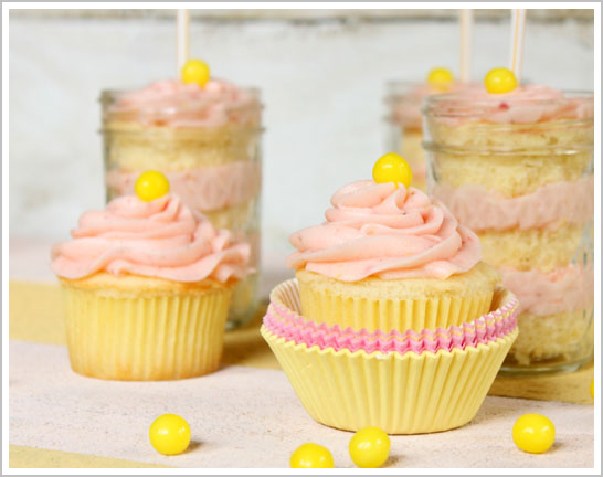 Strawberry Lemonade Cupcake Recipe
