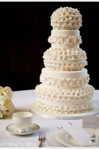 White Hydrangea Cake by Too Nice To Slice