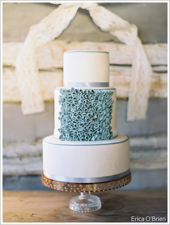 Vintage Ruffles & Lace Cake by Erica O'Brien