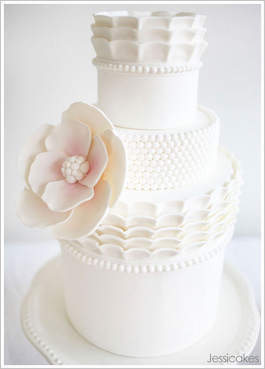 White China Cake by Jessicakes