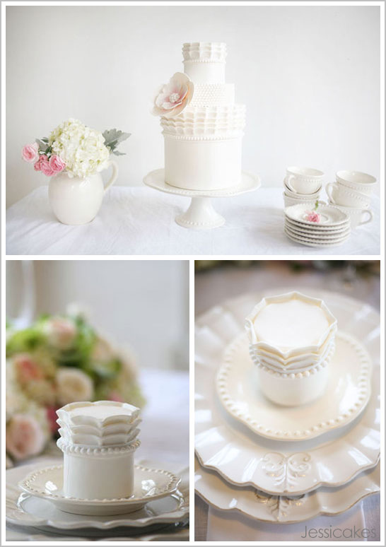 White China Cake by Jessicakes