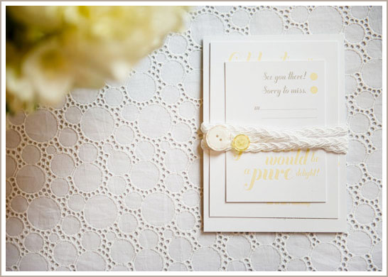 White Eyelet Lace Wedding Inspiration