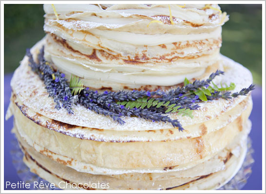300 Layer Crepe Cake by Petite Rêve Chocolates