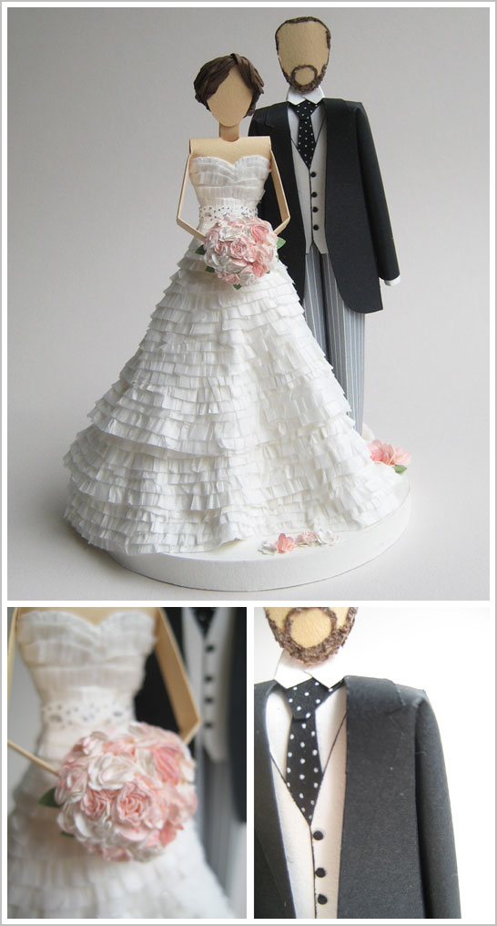 Paper Wedding Cake Topper