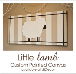 Shop the Little Lamb Painted Canvas