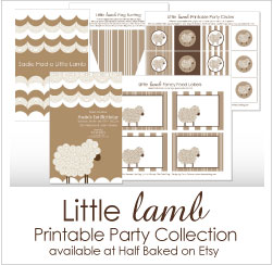 Shop the Little Lamb Birthday Collection on Etsy