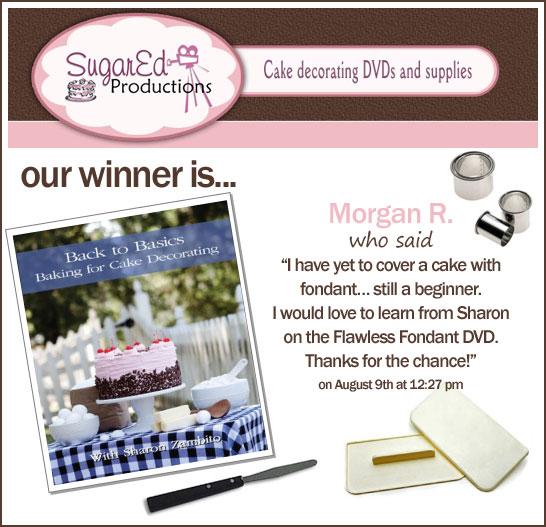 Sugar Ed Productions Giveaway Winner