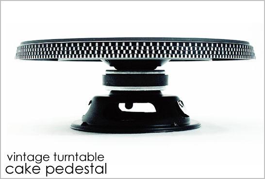 Vintage Turntable Cake Stand