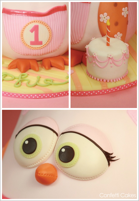 3D Owl Cake by Elisa Strauss