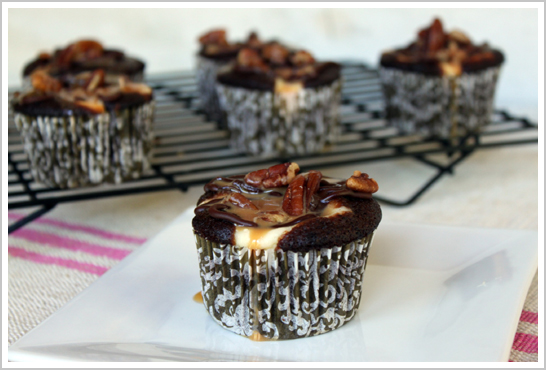Chocolate Cheesecake Turtle Cupcake Recipe