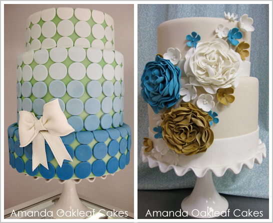 Flirty Vintage Wedding Cakes by Amanda Oakleaf Cakes