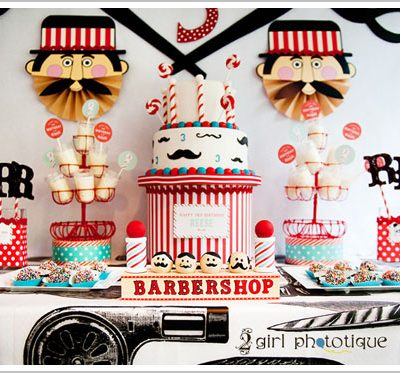 Barbershop Birthday Party