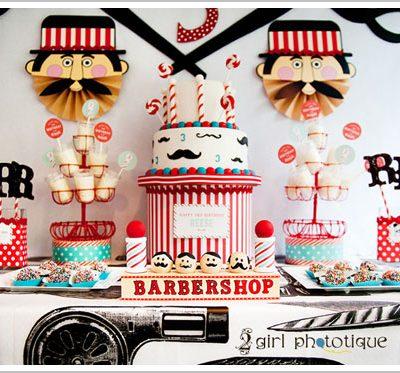 Barbershop Birthday Party