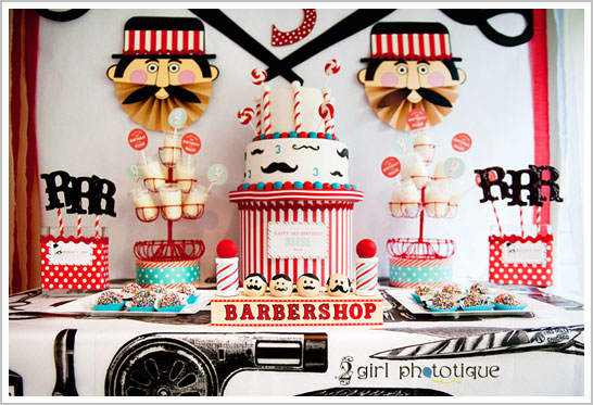 Vintage Barbershop Birthday Party