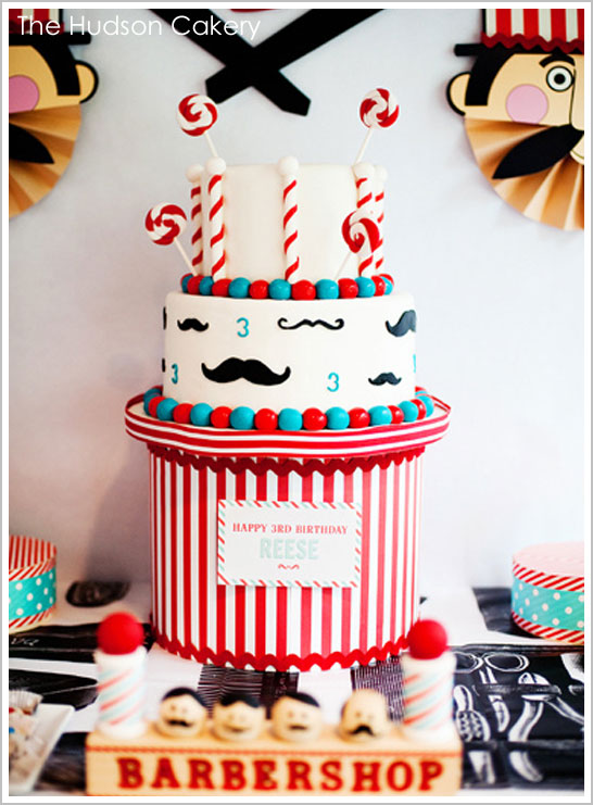 Vintage Barbershop Birthday Cake by The Hudson Cakery