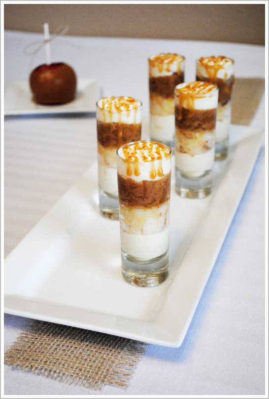 Caramel Apple Cake Shooters by The Cake Blog