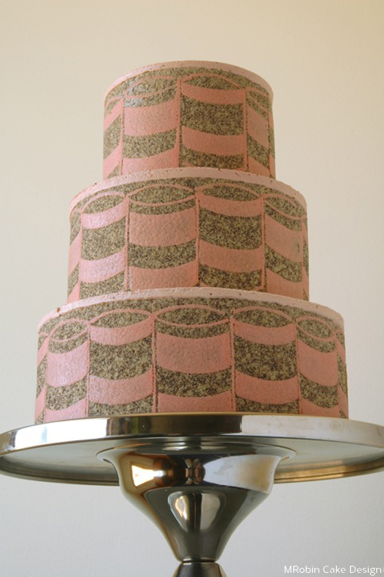 Graphic Entrement Cake by MRobin  |  TheCakeBlog.com