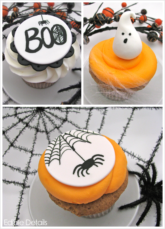 halloween cupcake toppers by edible details - Edible Halloween Decorations