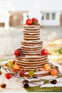 Rustic Apple Wedding Cake