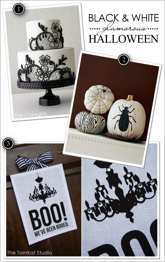 Black & White Glam Halloween Ideas