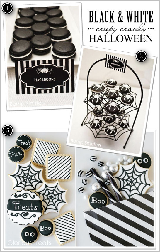 black white creepy crawly halloween ideas - Black And White Halloween Party