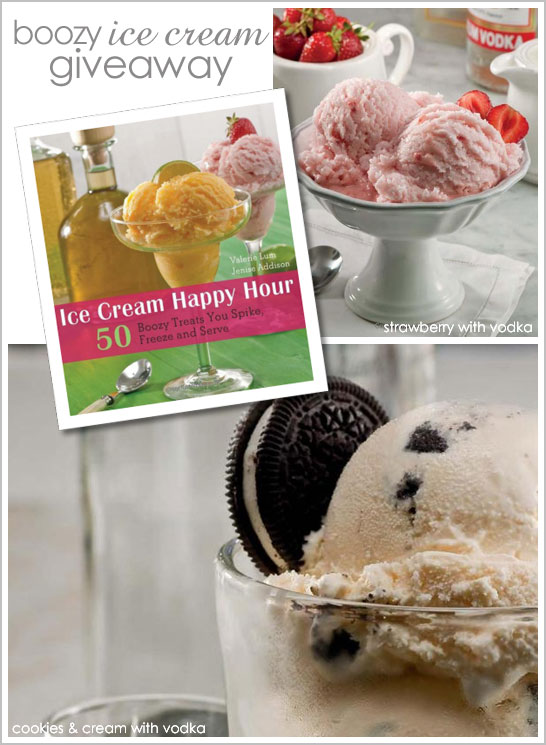 Boozy Ice Cream Giveaway & Recipe