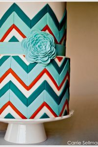 Chevron Cake for BRIDES Magazine by Carrie Sellman for Half Baked - The Cake Blog