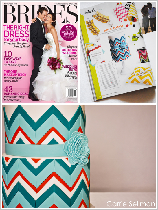 Chevron Cake for BRIDES Magazine