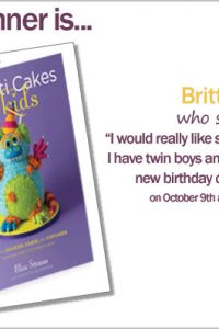 Confetti Cakes for Kids Book Giveway Winner