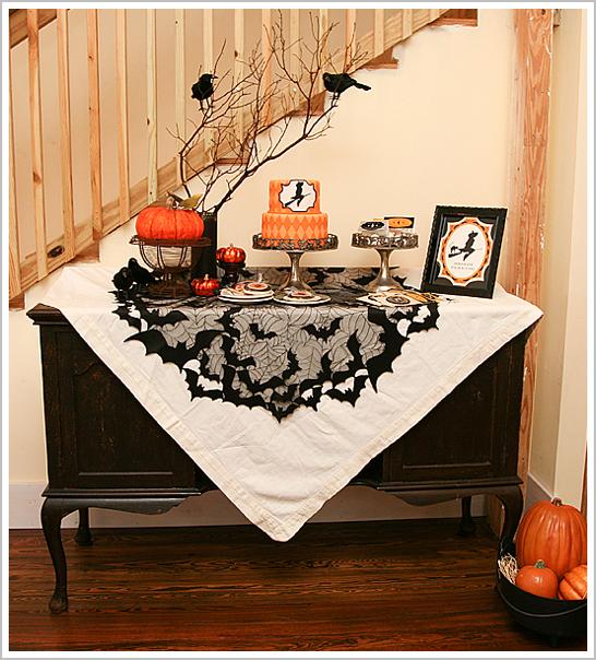 Bewitching Modern Halloween Cake