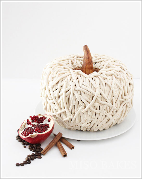 Rustic 3D Pumpkin Cake for Autumn