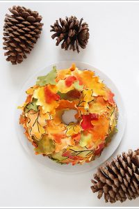 Autumn Wreath Cake