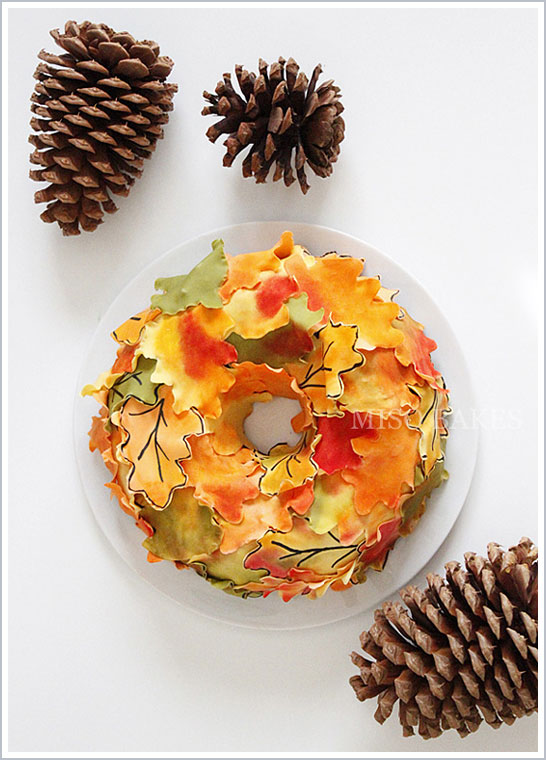 3D Autumn Wreath Cake Tutorial