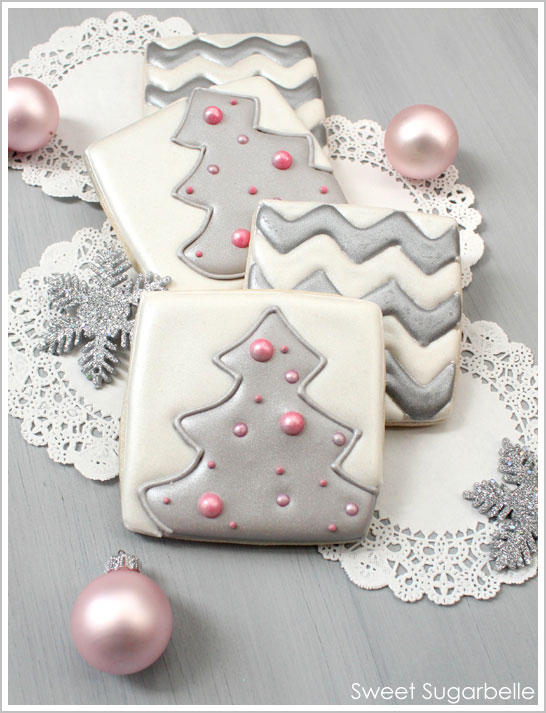 Chevron & Christmas Tree Cookies