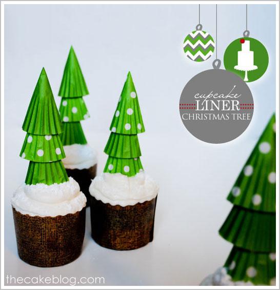 Cupcake Liner Christmas Tree Cupcakes