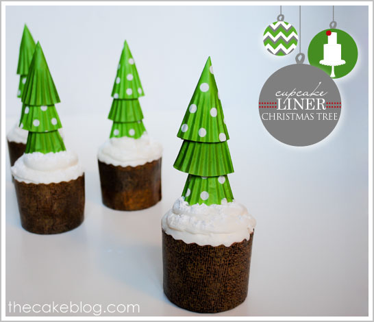 Diy Cupcake Liner Christmas Trees