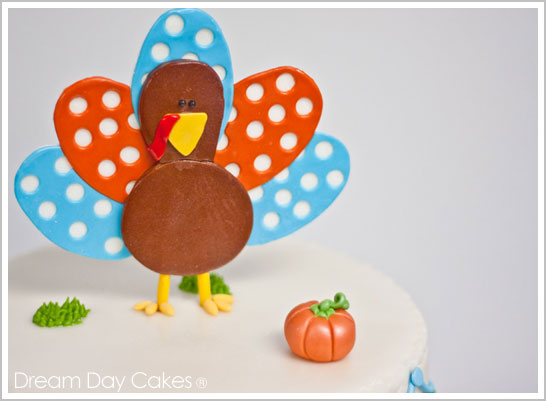 Turkey Cake for Thanksgiving