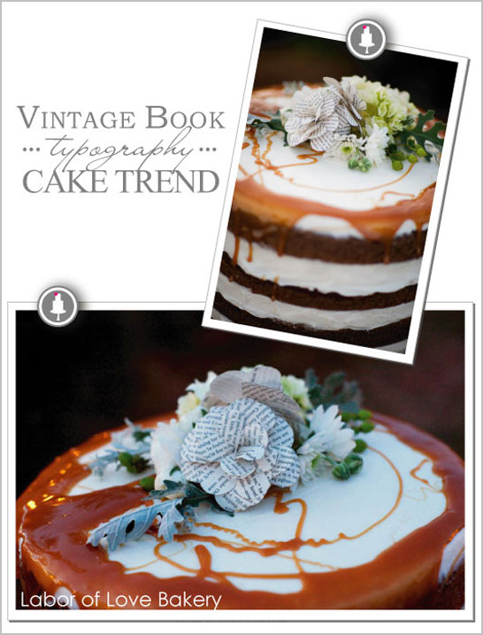 Vintage Book Paper Flowers - Cake Trend