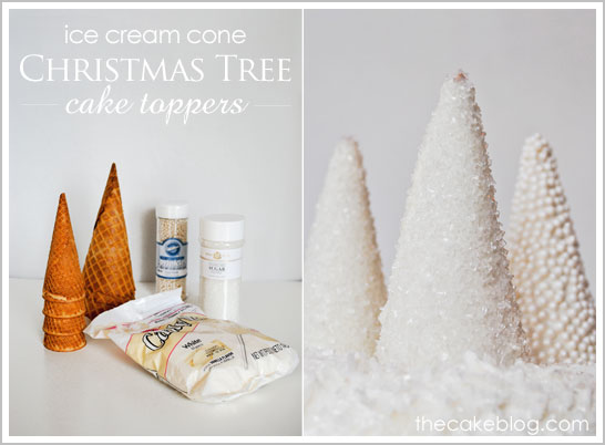 Christmas_TIce Cream Cone - Sparkling Christmas Trees