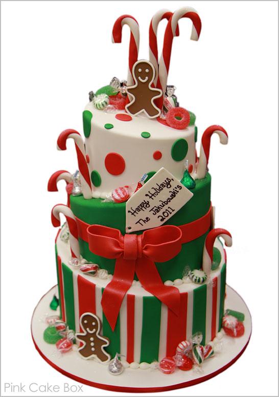 Gingerbread Candyland Christmas Cake