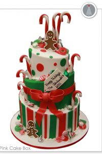 Gingerbread & Candy Cane Christmas Cake