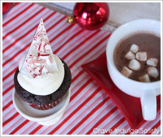 Peppermint Hot Chocolate Cupcakes Recipe