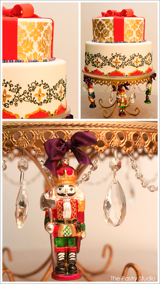 Golden Nutcracker Christmas Cake